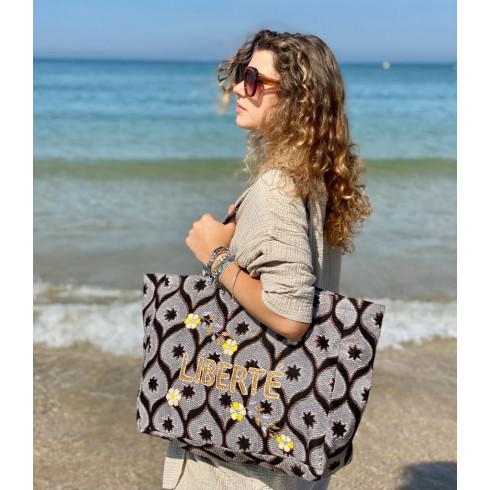 Kossiwa bag embroidered LIBERTE
