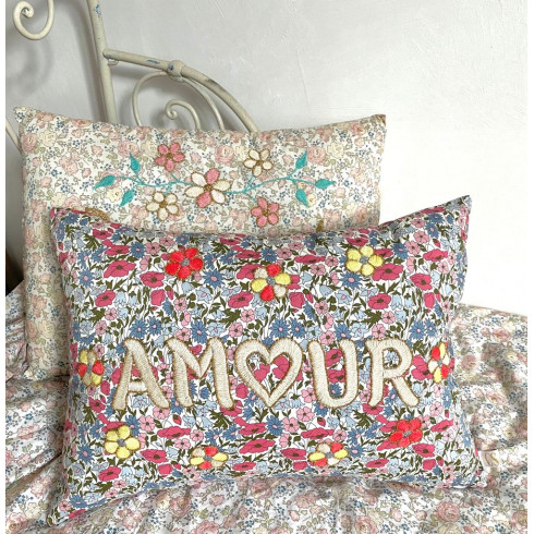 copy of Embroidered cushion AMOUR