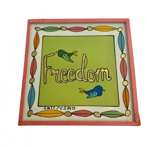 Peinture sous verre 10x10 FREEDOM