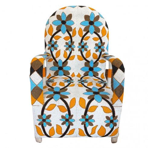 copy of African Beaded Yoruba chair