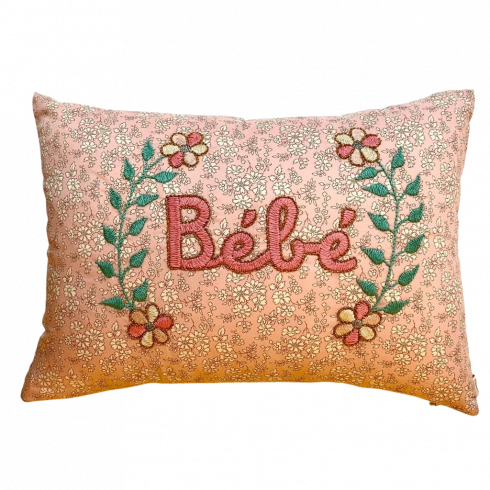 Embroidered cushion Bébé