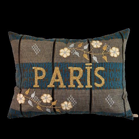 Coussin brodé PARIS