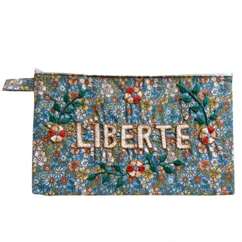 LIBERTE embroidered clutch