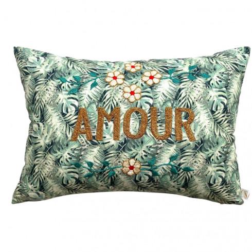 Embroidered cushion AMOUR
