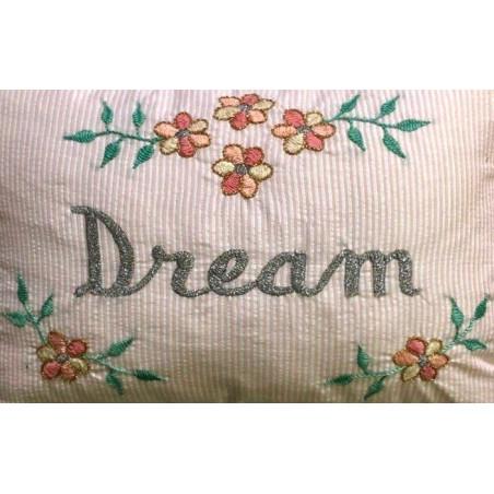 Coussin Rayures brodé Dream