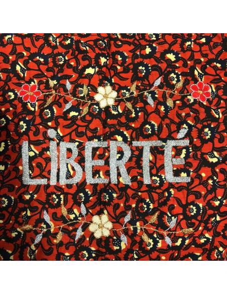 Sac wax Lisette brodé LIBERTE