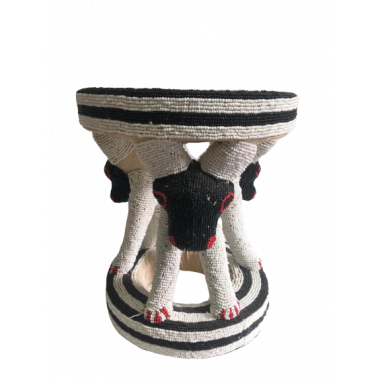 Beaded stool from Cameroon - Animal 3...