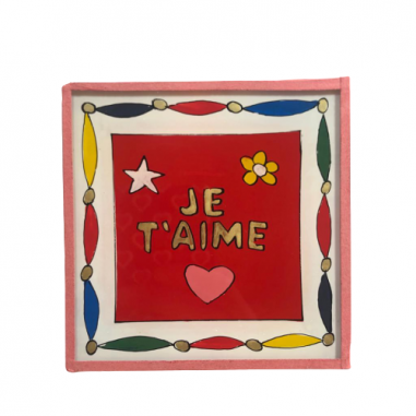 Painting under glass JE T'AIME
