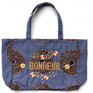 Kossiwa wax bag embroidered BONHEUR