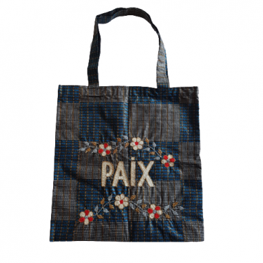 Lisette embroidered wax bag PAIX
