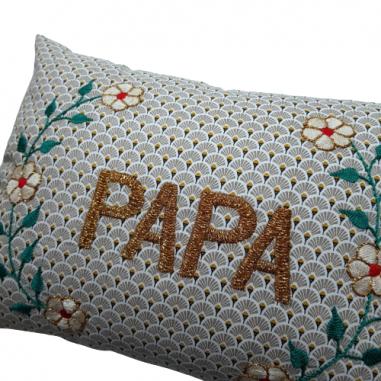 Embroidered cushion PAPA