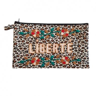 LIBERTE embroidered clutch L