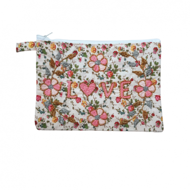 LOVE MM embroidered clutch
