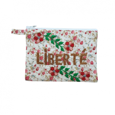 LIBERTE MM embroidered clutch
