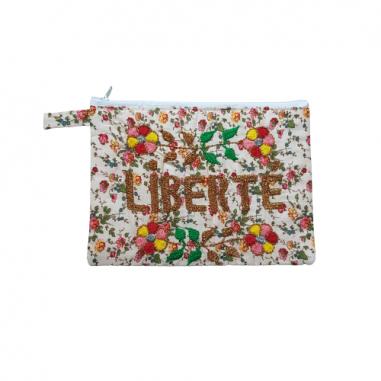 LIBERTE embroidered clutch M