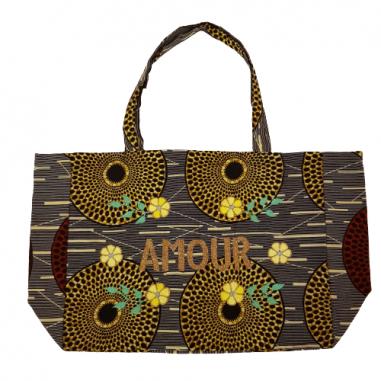 Kossiwa wax bag embroidered AMOUR