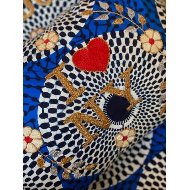 Embroidered cushion I love NY