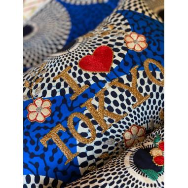 Embroidered cushion I love TOKYO