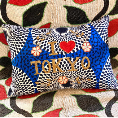 Coussin brodé I love TOKYO