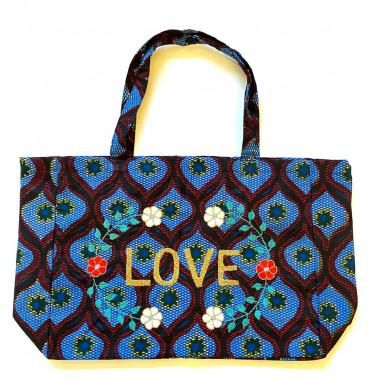 Kossiwa wax bag embroidered LOVE