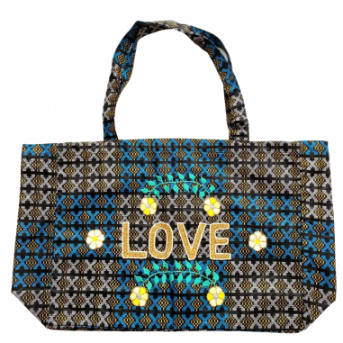 Kossiwa bag embroidered LOVE