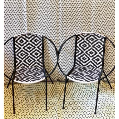 Couple de fauteuil en fils de pêche...