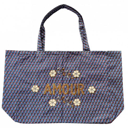 Kossiwa bag embroidered AMOUR