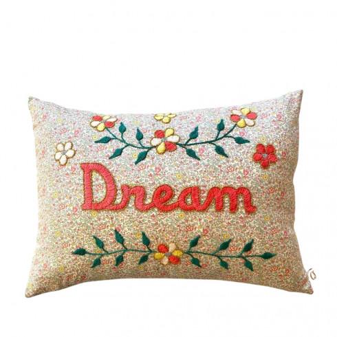 Embroidered cushion Dream