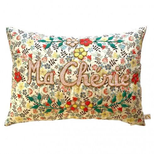 Embroidered cushion Ma Chérie