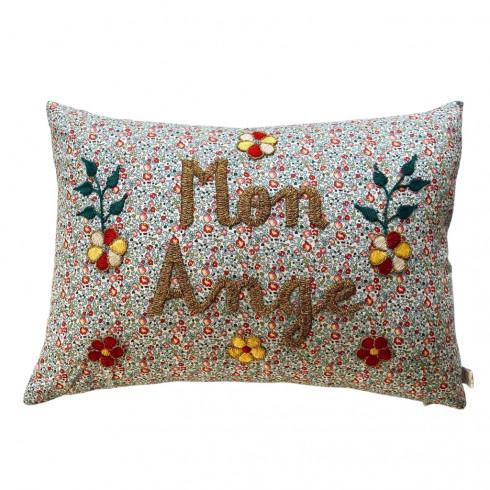 Embroidered cushion Mon Ange