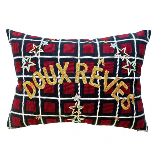 Embroidered cushion DOUX REVES