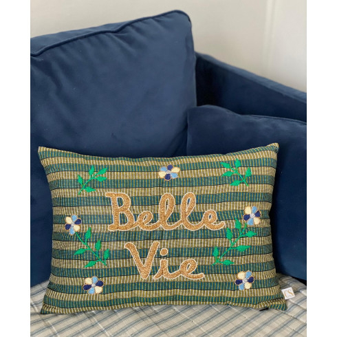 Embroidered cushion BELLE VIE