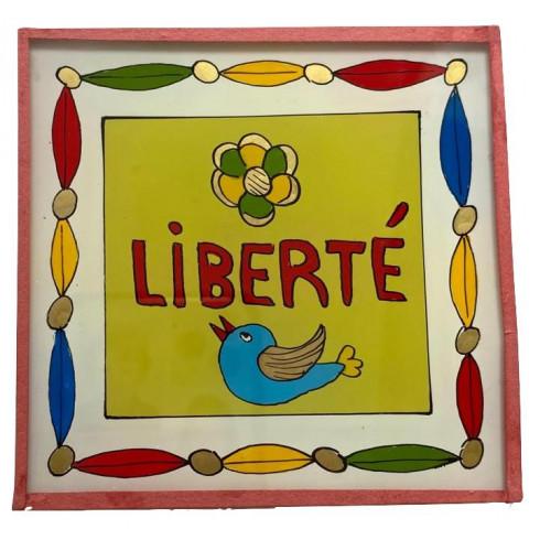 Peinture sous verre 10x10 - Liberté