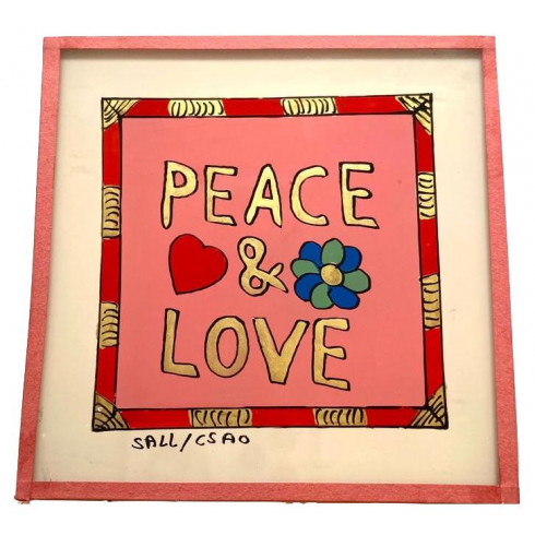 Painting under glass 10x10 - Peace &...