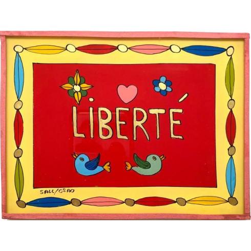 Painting under glass 16x12 cm - Liberté