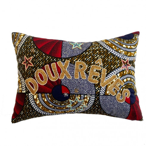 Embroidered cushion Doux Rêves