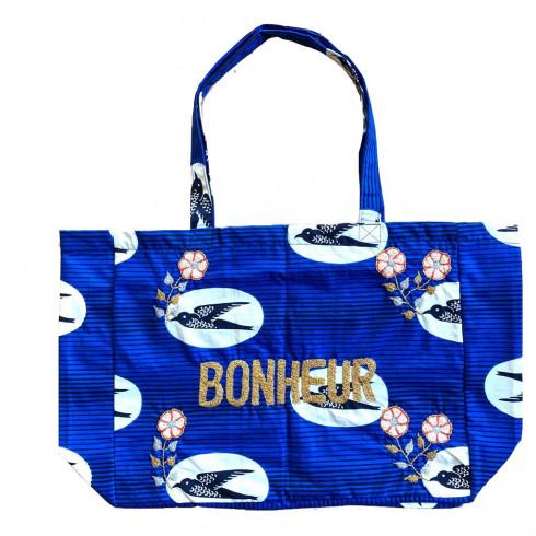 Kossiwa bag embroidered BONHEUR