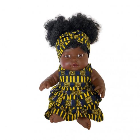 Poupée Amy robe jaune et noire
