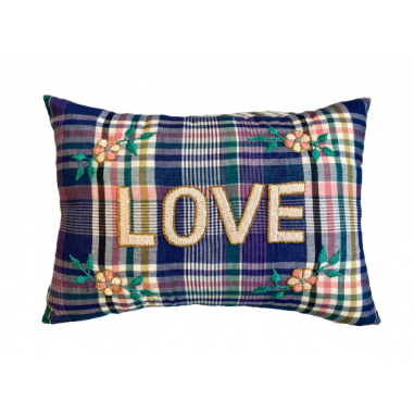 copy of Embroidered cushion LOVE