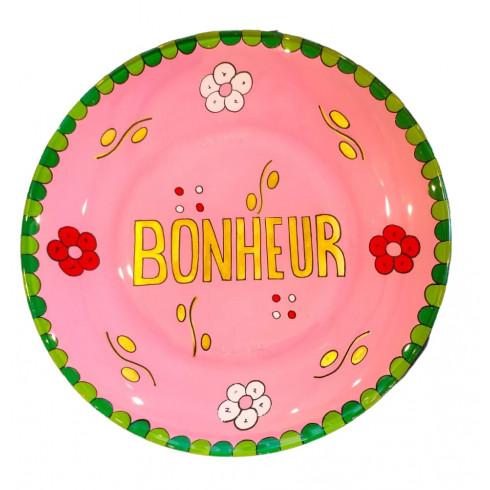 Dessert Hand painted plate - Pink -...